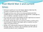 post world war 2 and current times