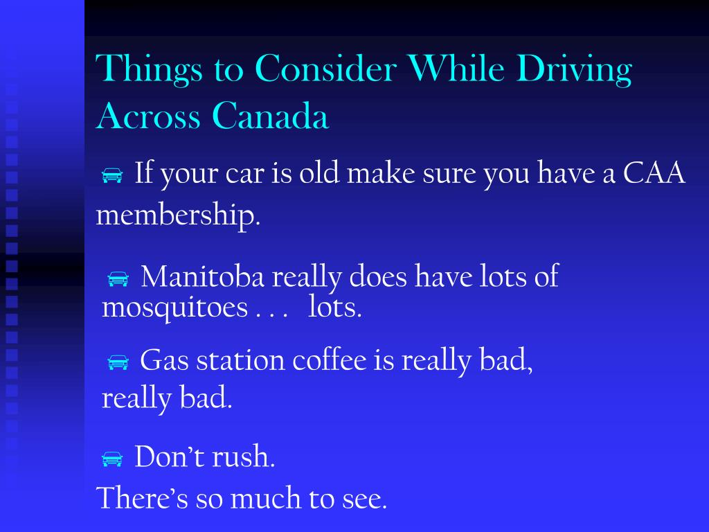 Things to Consider While Driving Across Canada