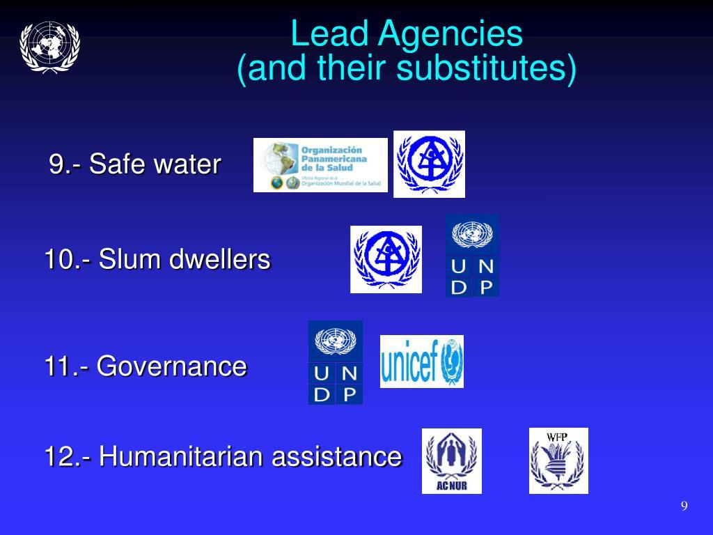 Lead Agencies