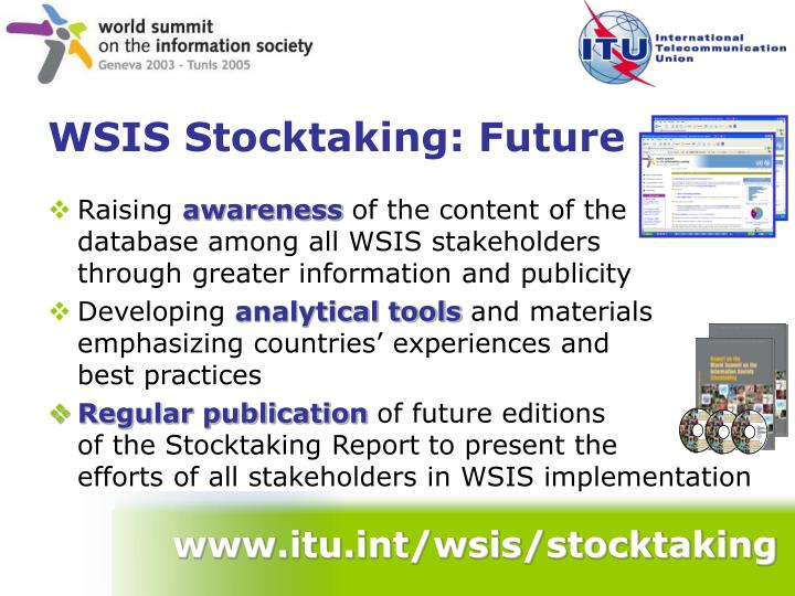 www.itu.int/wsis/stocktaking