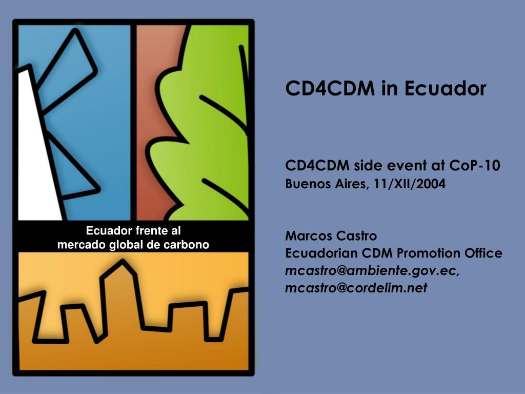 CD4CDM in Ecuador