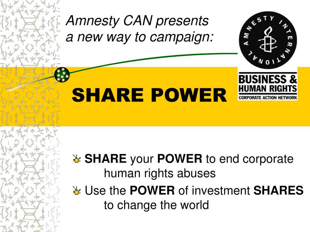 Amnesty CAN presents