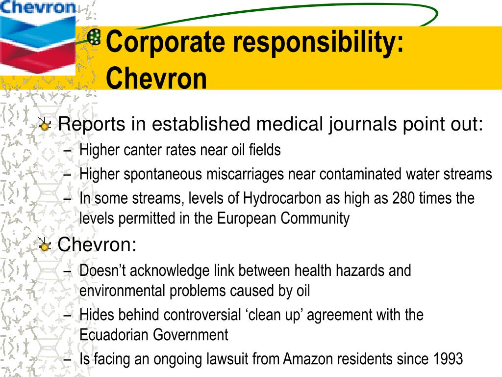 Corporate responsibility: Chevron