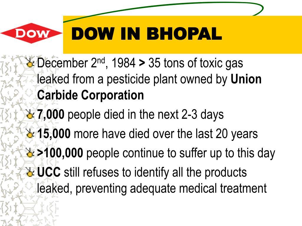 DOW IN BHOPAL