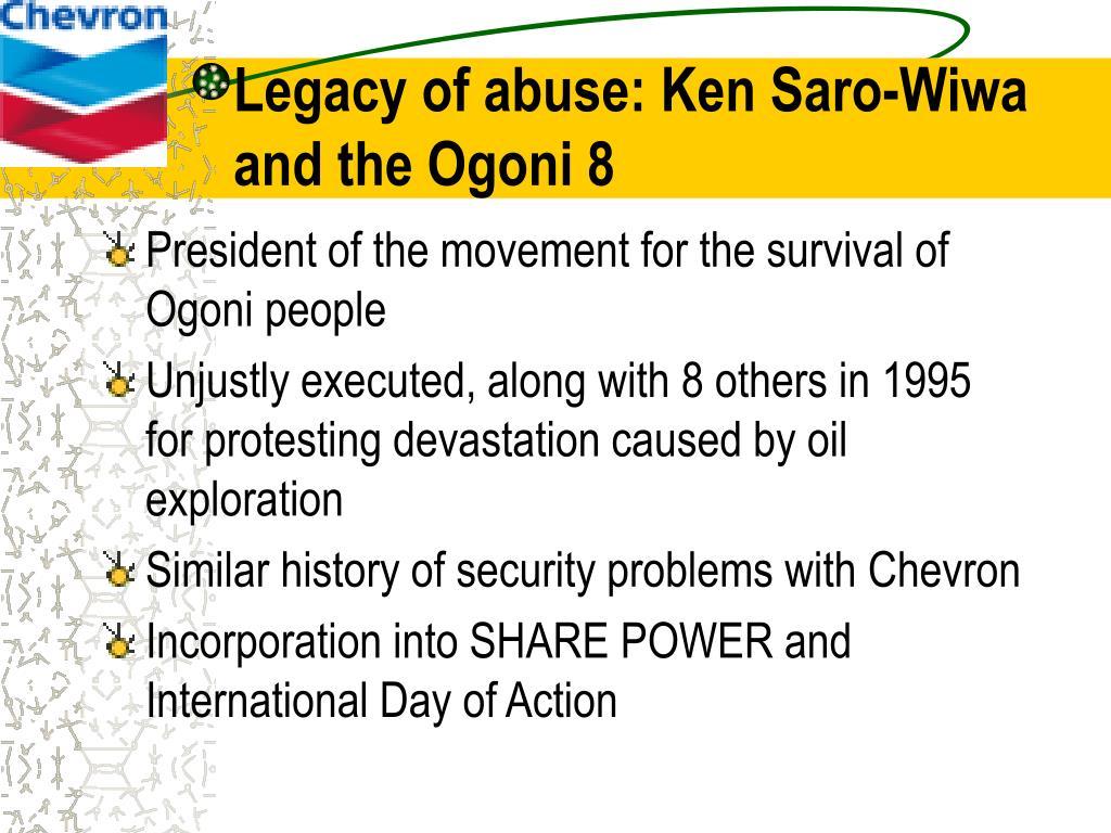 Legacy of abuse: Ken Saro-Wiwa and the Ogoni 8