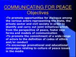 communicating for peace objectives21