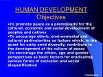 human development objectives