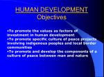 human development objectives23