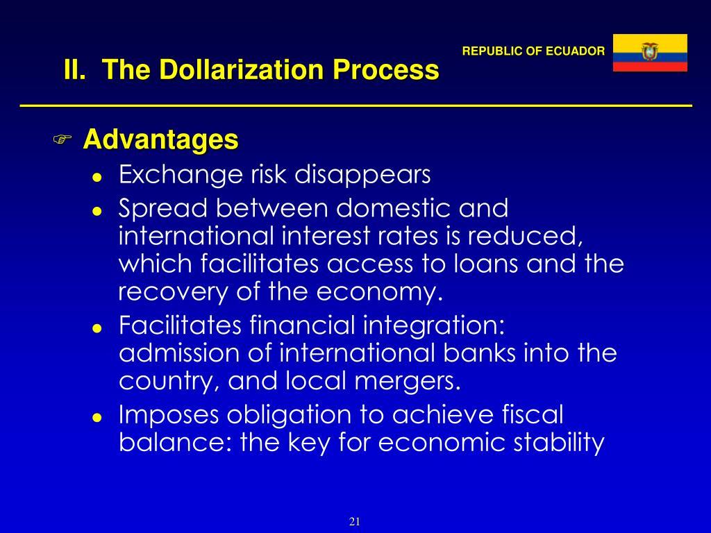 II.  The Dollarization Process