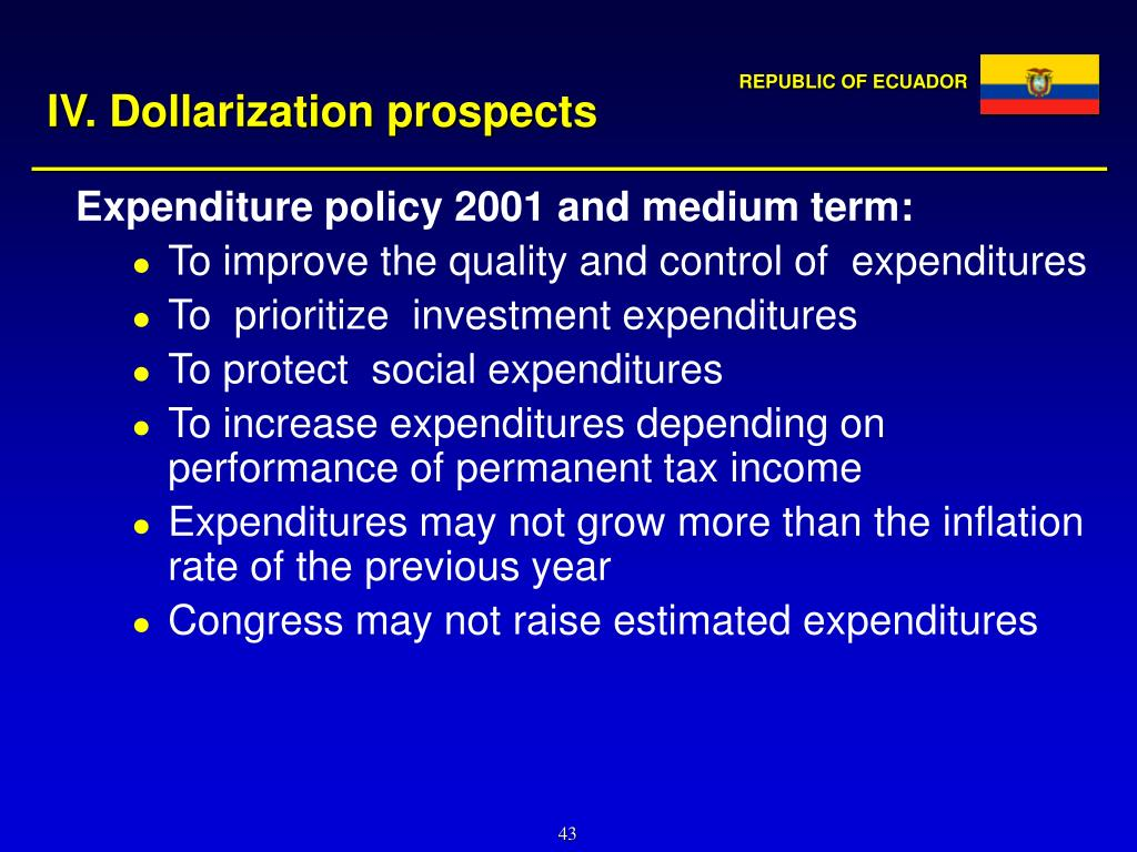 IV. Dollarization prospects