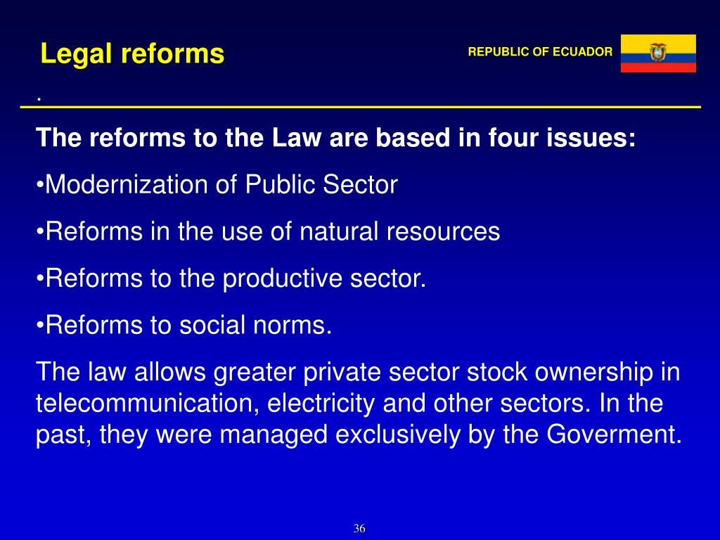 Legal reforms