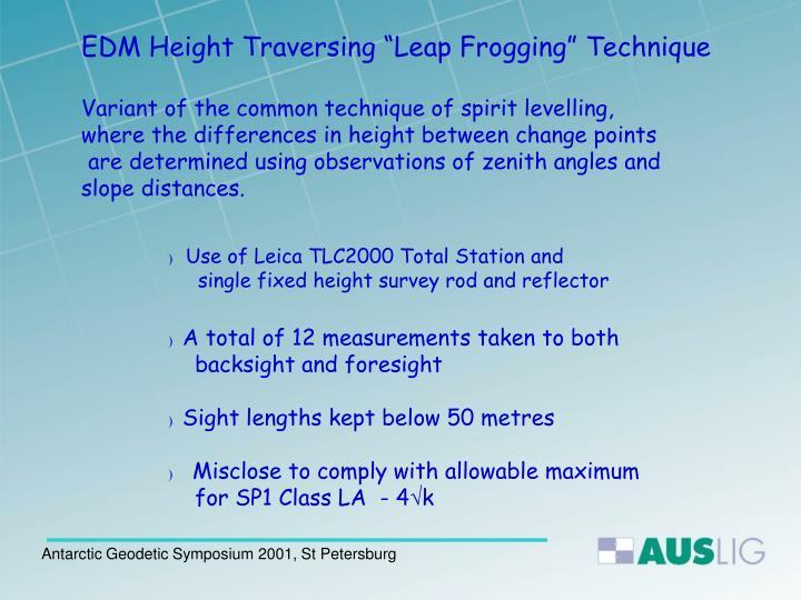 "EDM Height Traversing ""Leap Frogging"" T"