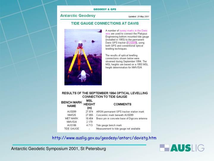 http://www.auslig.gov.au/geodesy/antarc/davistg.htm