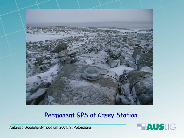Permanent GPS at Casey Station