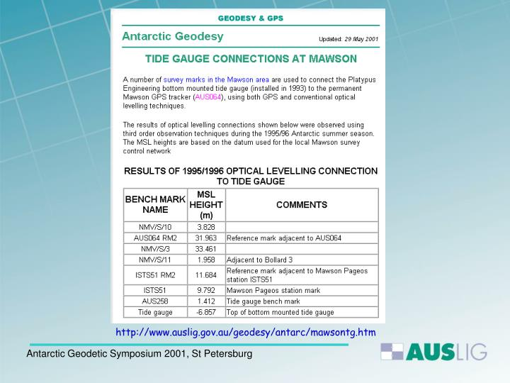 http://www.auslig.gov.au/geodesy/antarc/mawsontg.htm