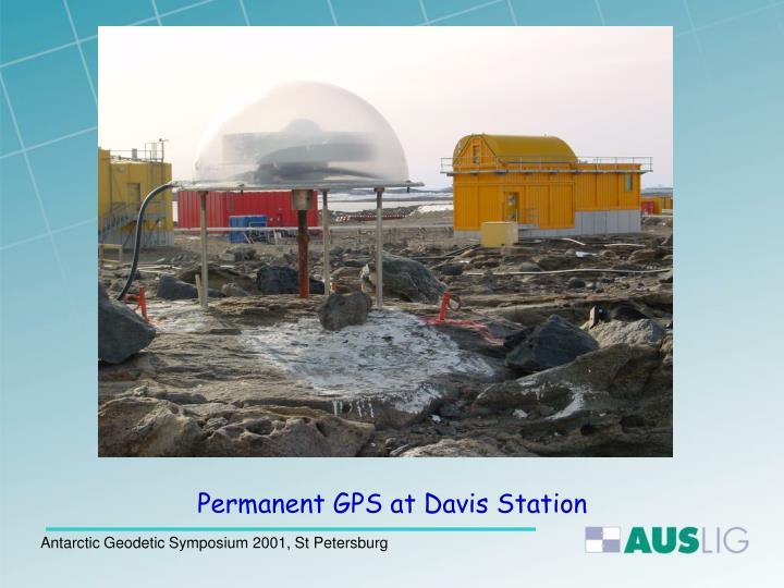 Permanent GPS at Davis Station