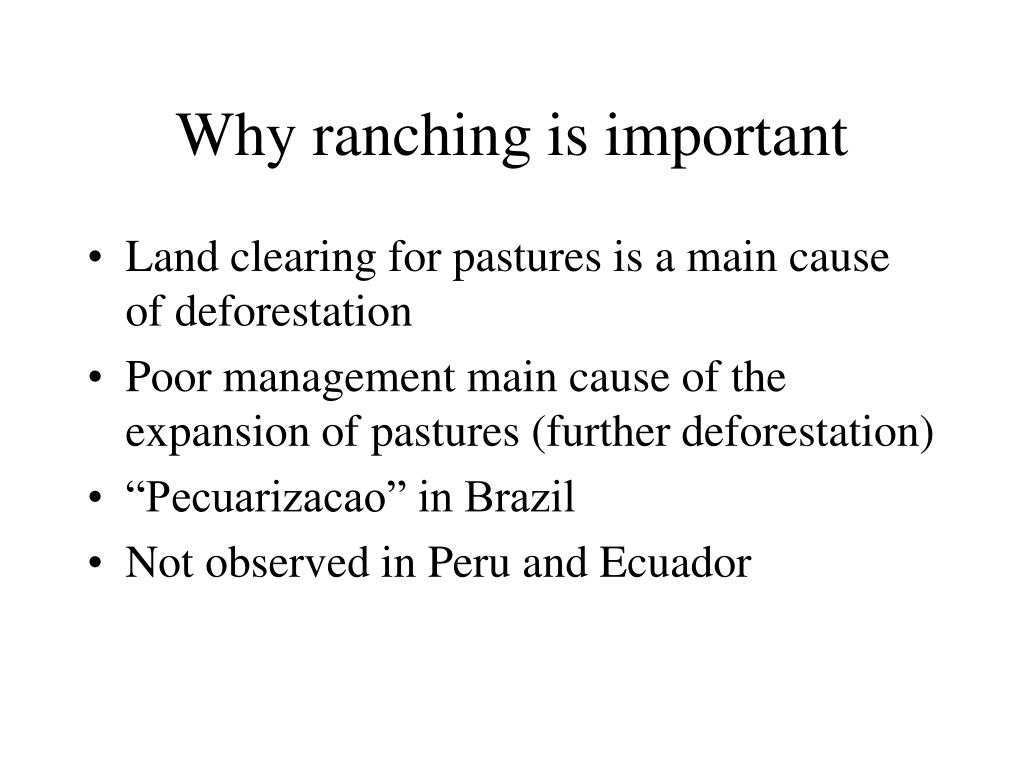 Why ranching is important