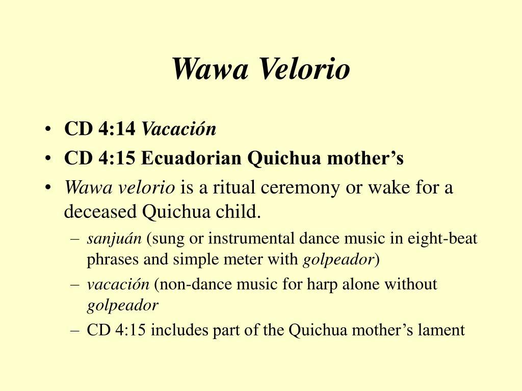 Wawa Velorio