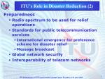 itu s role in disaster reduction 2