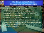 itu treaty status decisions plenipotentiary conference 2006