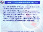 some itu recommendations on et 2