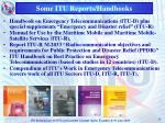 some itu reports handbooks