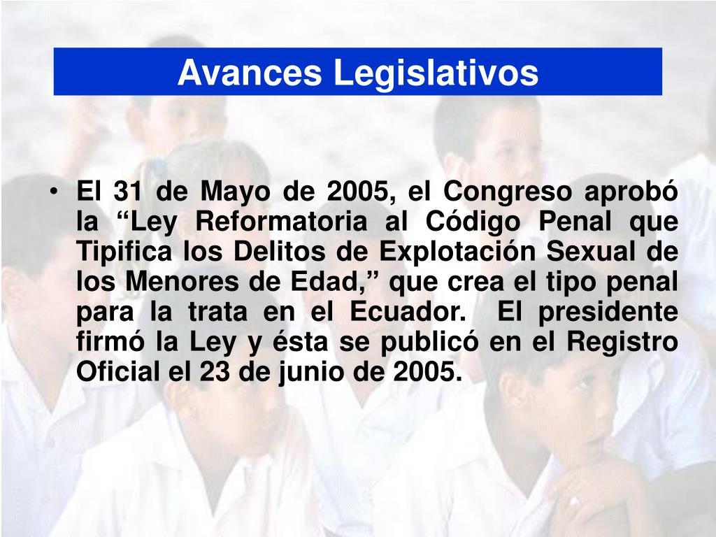 Avances Legislativos