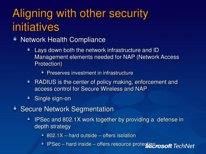 Aligning with other security initiatives