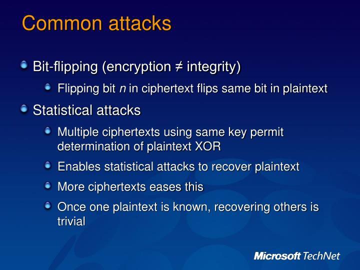Common attacks
