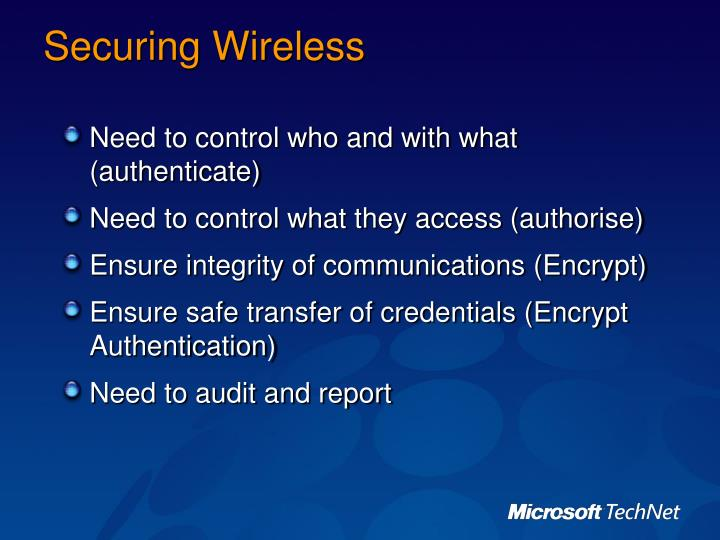 Securing Wireless