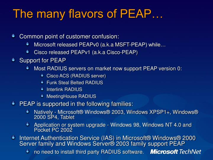 The many flavors of PEAP…