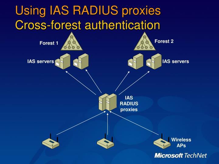 Using IAS RADIUS proxies