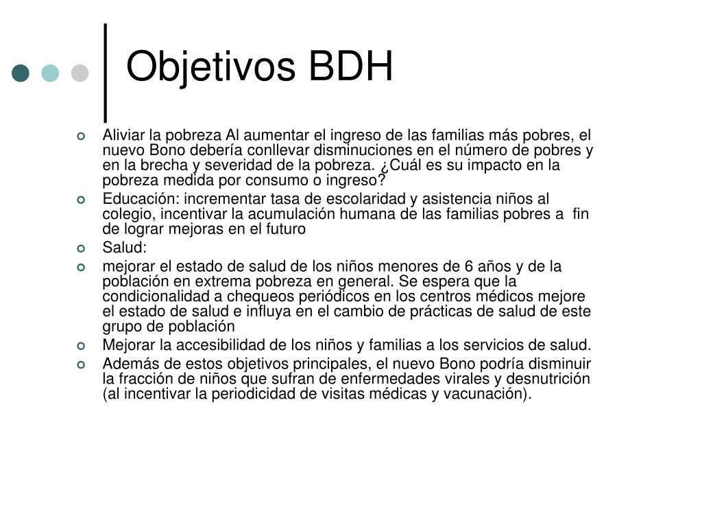 Objetivos BDH