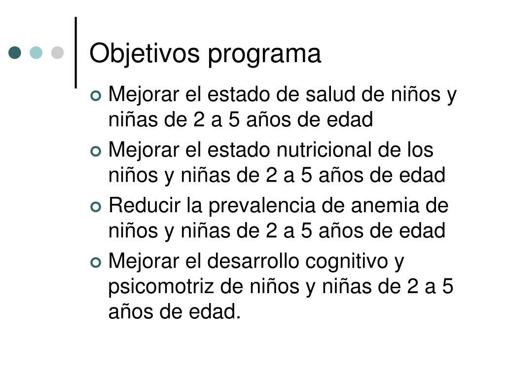 Objetivos programa