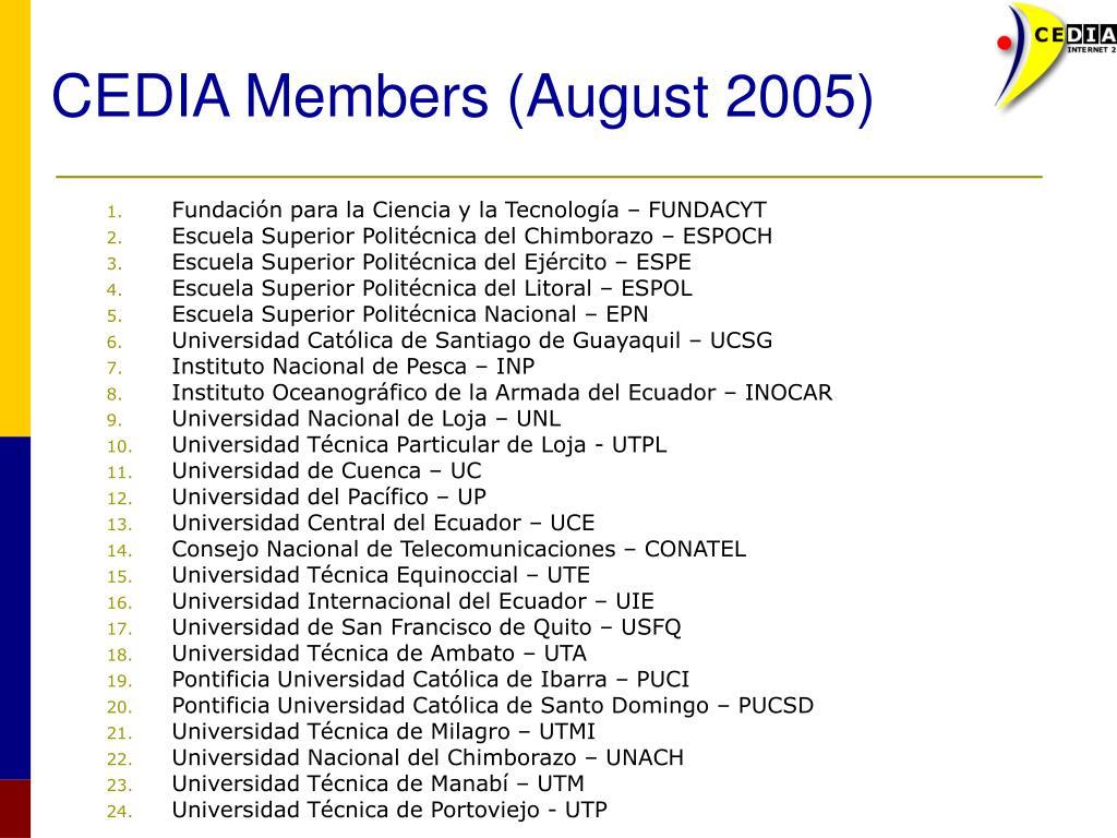 CEDIA Members (August 2005)
