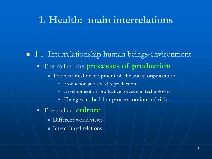 1 health main interrelations