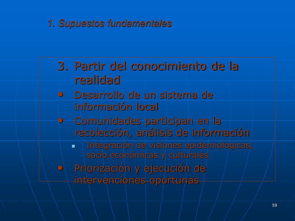 1. Supuestos fundamentales