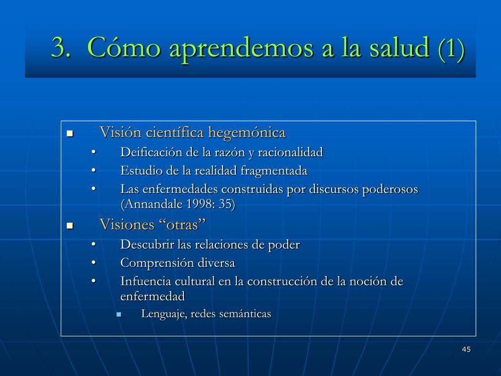 3.  Cómo aprendemos a la salud