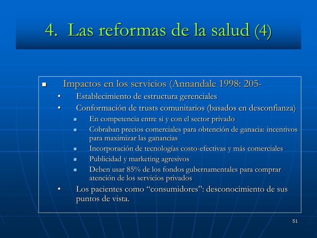 4.  Las reformas de la salud