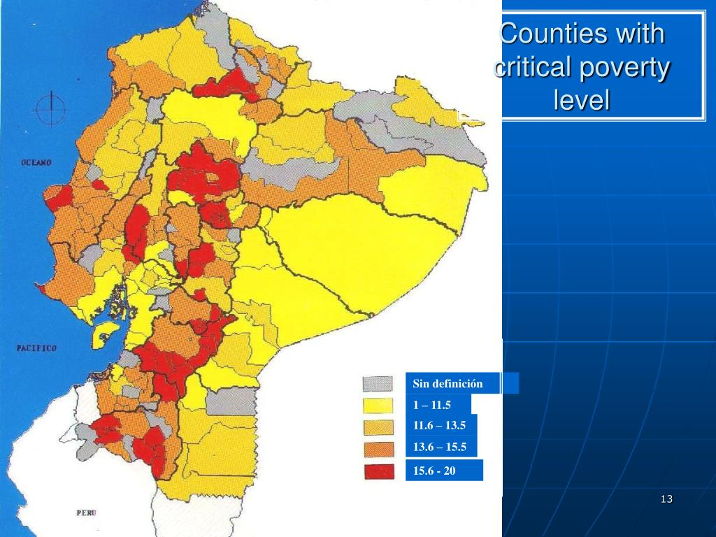 Counties with critical poverty level