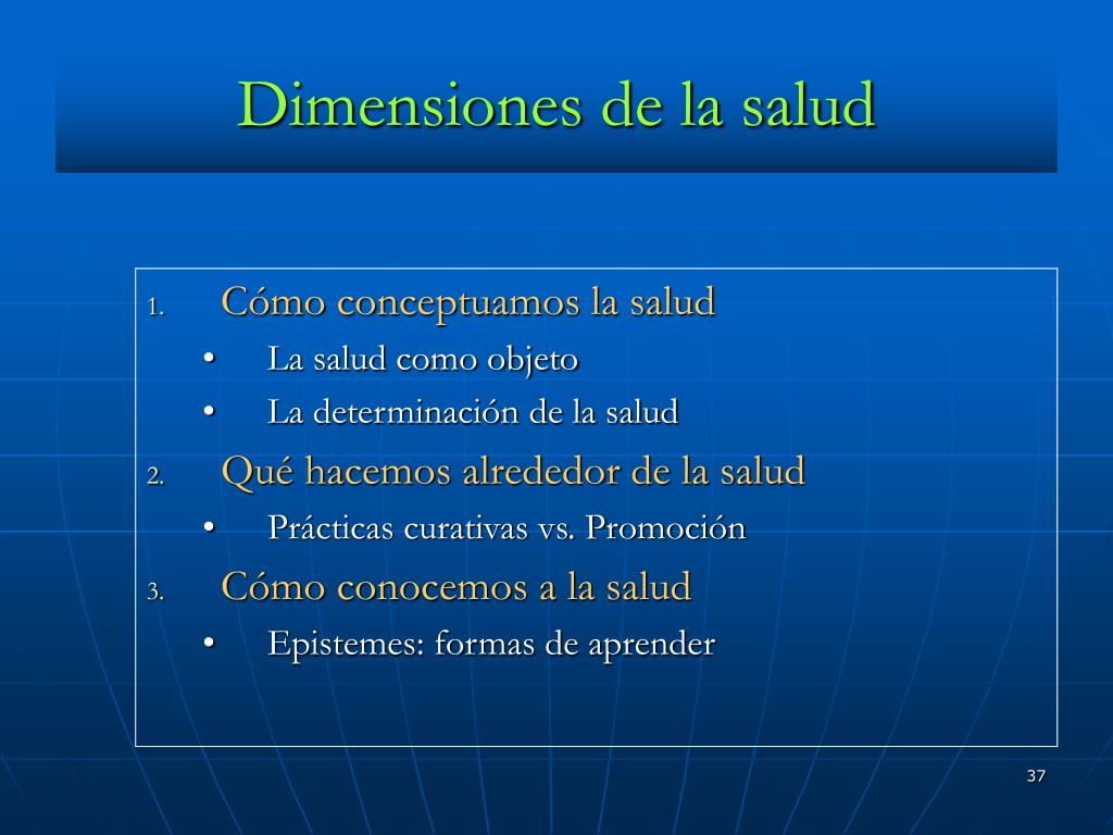 Dimensiones de la salud