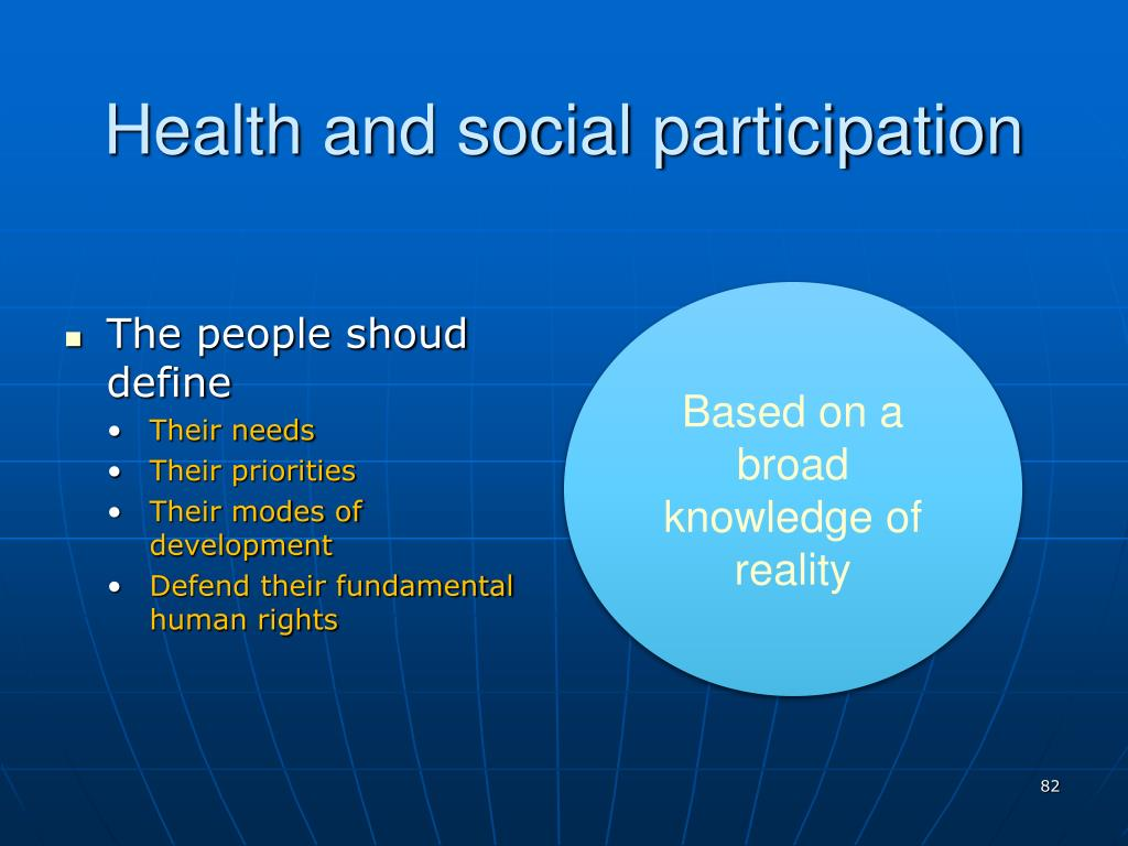 Health and social participation