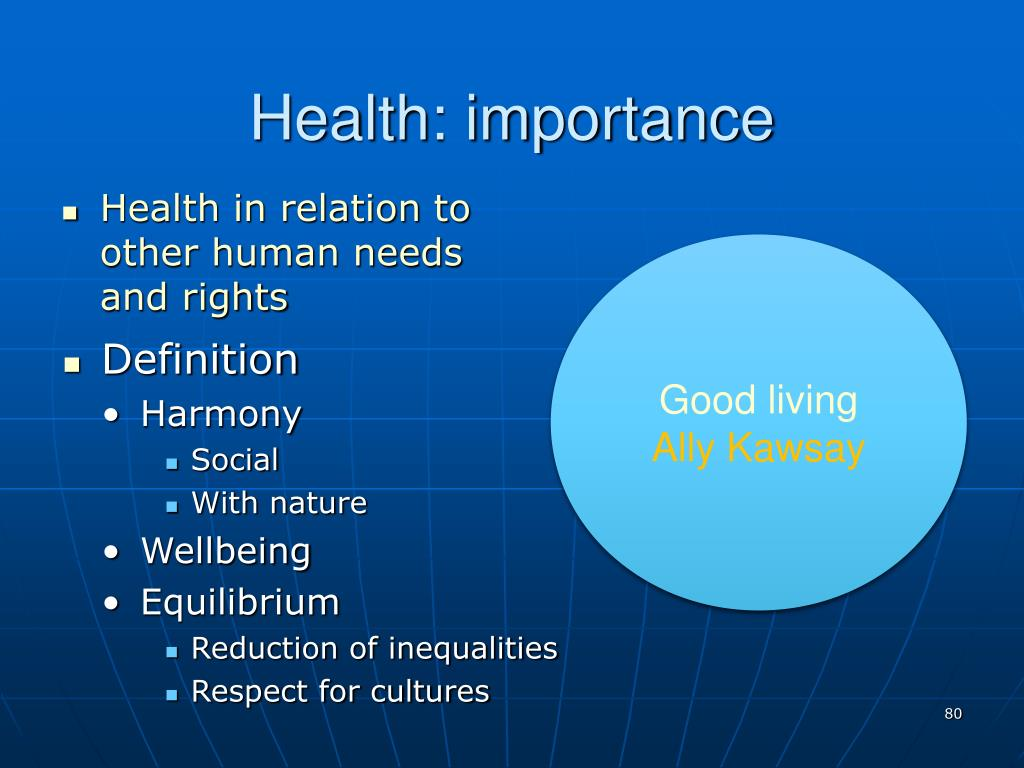 Health: importance