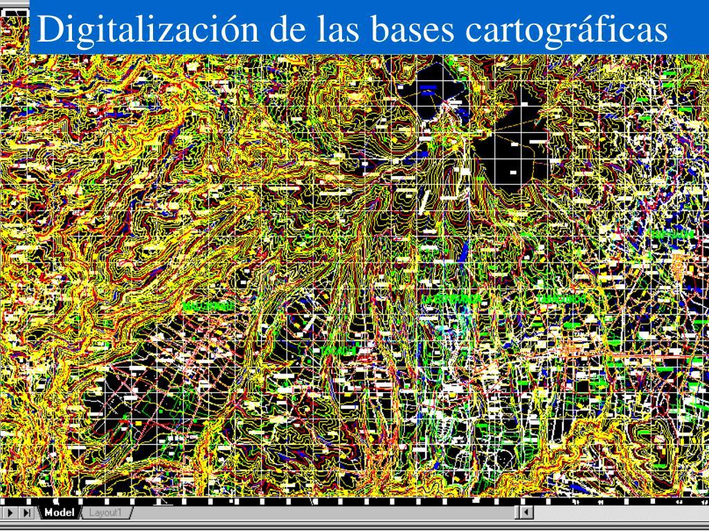 Digitalización de las bases cartográficas
