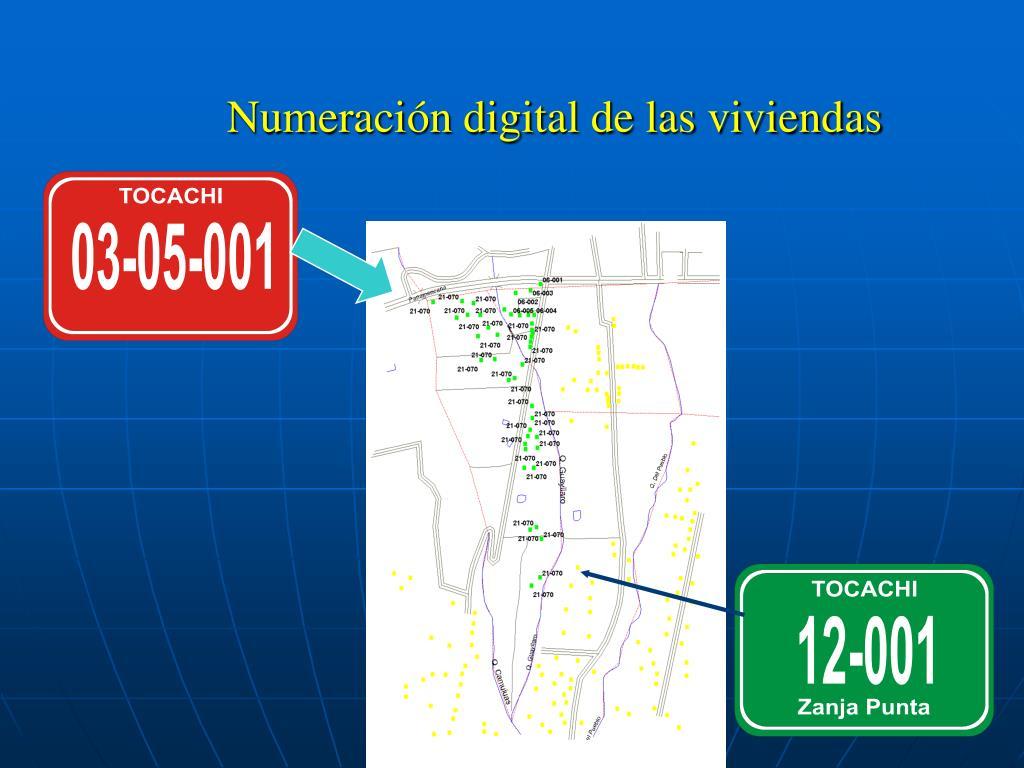 Numeración digital de las viviendas
