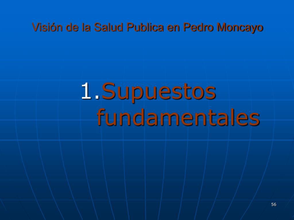 Visión de la Salud Publica en Pedro Moncayo