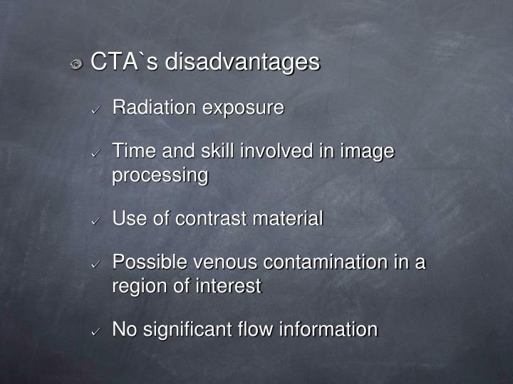 CTA`s disadvantages