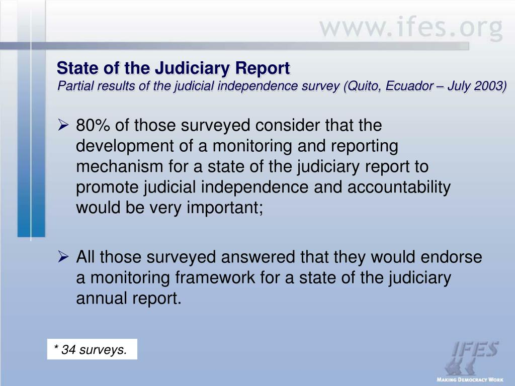State of the Judiciary Report