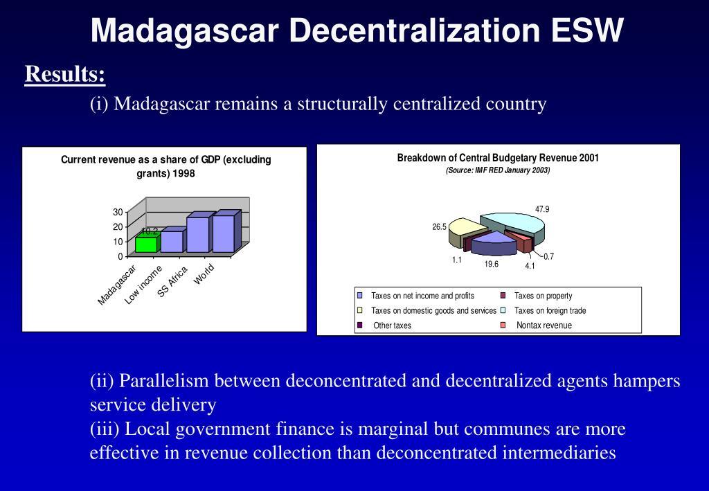 Madagascar Decentralization ESW