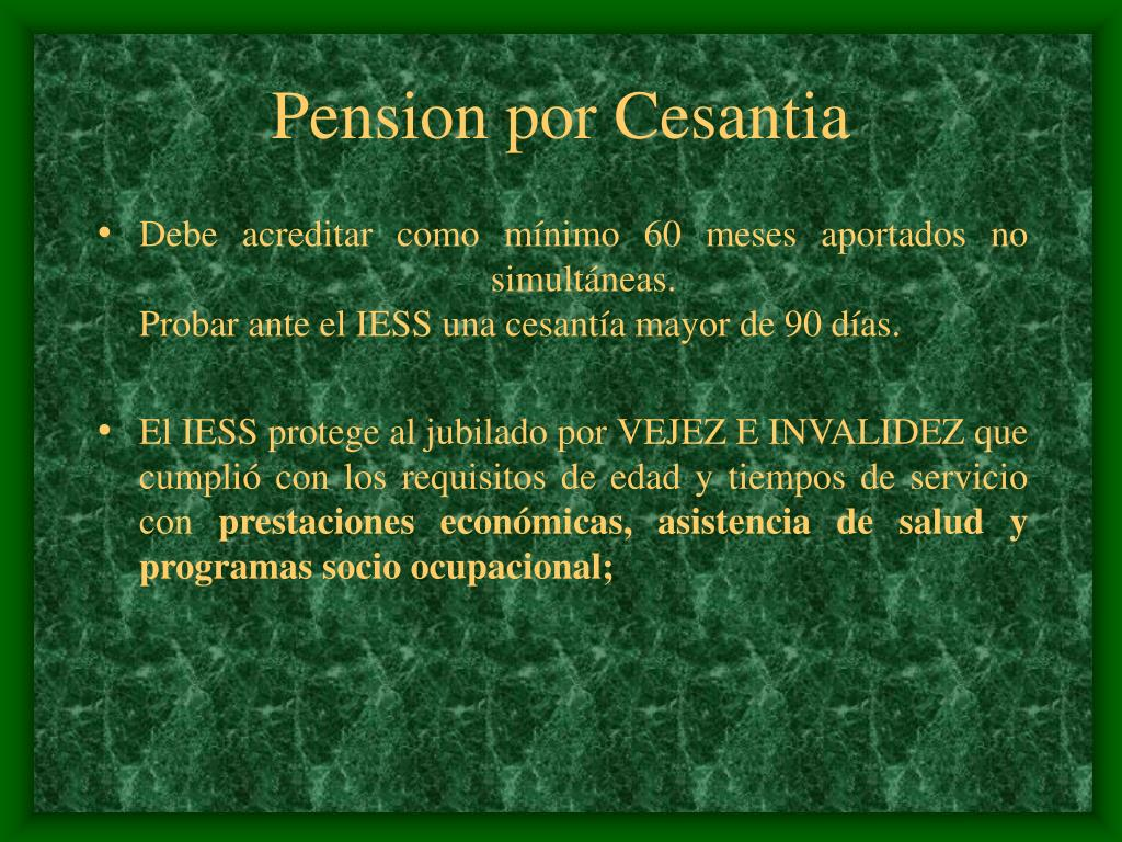 Pension por Cesantia